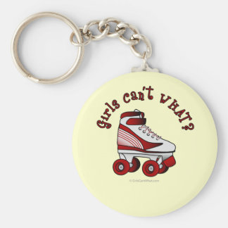 Roller Derby Skate - Red Keychain