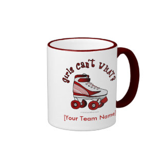 Roller Derby Skate - Red Coffee Mugs