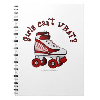 Roller Derby Skate - Red Spiral Note Books