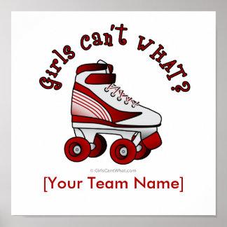 Roller Derby Skate - Red Print