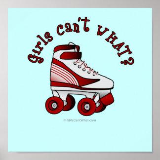 Roller Derby Skate - Red Posters