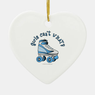 Roller Derby Skate - Sky Blue Ceramic Ornament