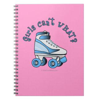 Roller Derby Skate - Sky Blue Spiral Note Books