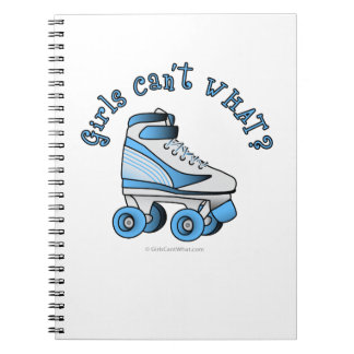 Roller Derby Skate - Sky Blue Spiral Notebook