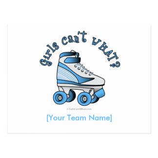 Roller Derby Skate - Sky Blue Postcard