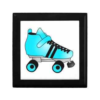 Roller Derby Skate Teal Blue and Black Keepsake Box