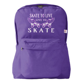 Roller Derby, Skate to Live, Live to Skate American Apparel™ Backpack