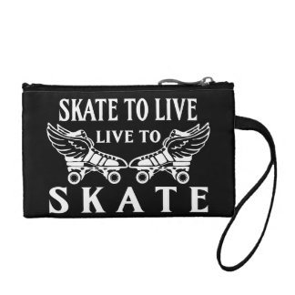Roller Derby, Skate to Live, Live to Skate Change Purse