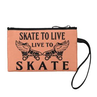Roller Derby, Skate to Live, Live to Skate Coin Wallet
