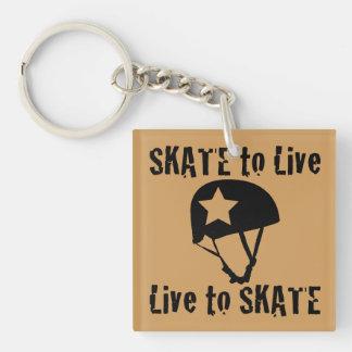 Roller Derby, Skate to Live Live to Skate, Jammer Keychain