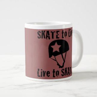 Roller Derby, Skate to Live Live to Skate, Jammer Large Coffee Mug