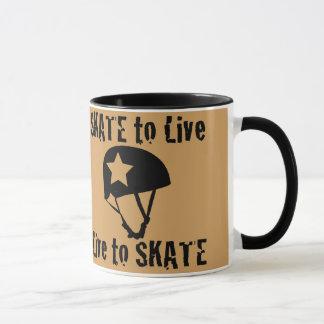 Roller Derby, Skate to Live Live to Skate, Jammer Mug