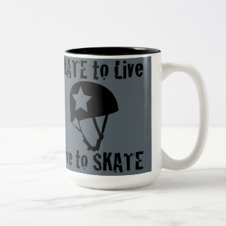 Roller Derby, Skate to Live Live to Skate, Jammer Two-Tone Coffee Mug
