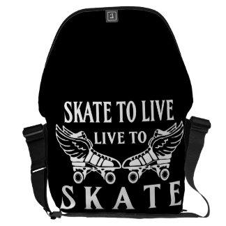 Roller Derby, Skate to Live, Live to Skate Messenger Bag