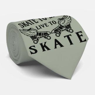 Roller Derby, Skate to Live, Live to Skate Neck Tie