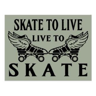 Roller Derby, Skate to Live, Live to Skate Postcard