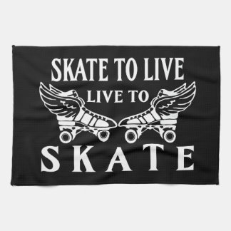 Roller Derby, Skate to Live Live to Skate Towel