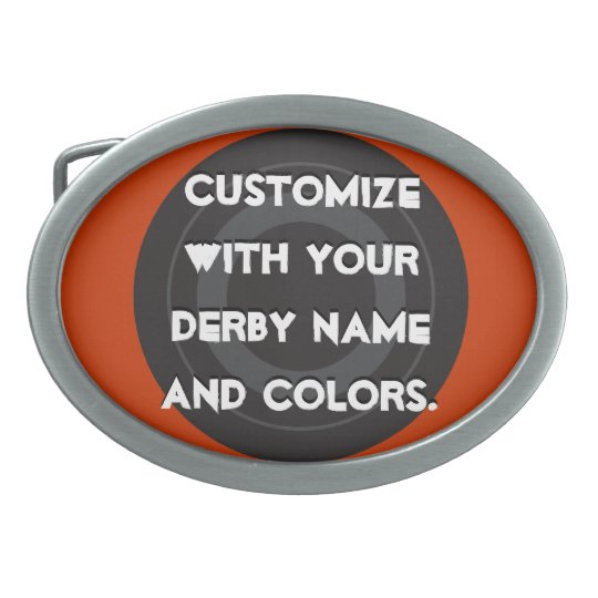 Roller Derby Skate Wheel Belt Buckle
