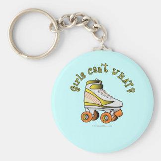 Roller Derby Skate - Yellow Keychain