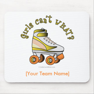 Roller Derby Skate - Yellow Mouse Pad