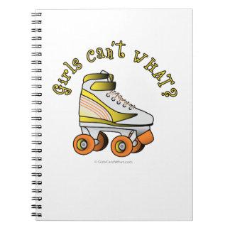 Roller Derby Skate - Yellow Spiral Notebooks