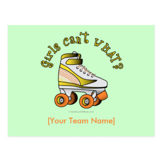 Roller Derby Skate - Yellow Postcard