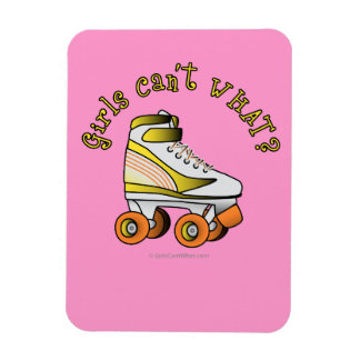 Roller Derby Skate - Yellow Rectangle Magnet