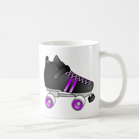 Roller Derby Skates Black and Purple Coffee Mug