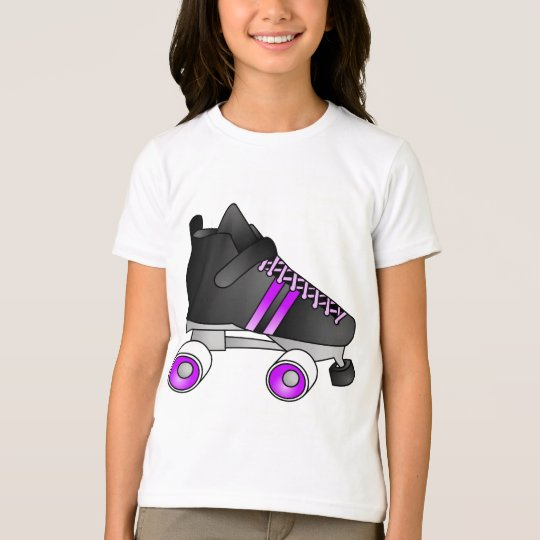 Roller Derby Skates Black and Purple T-Shirt