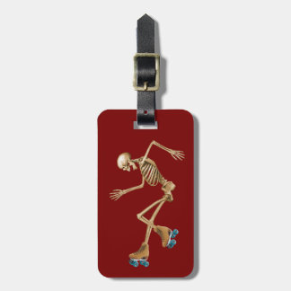 Roller Derby Skeleton Luggage Tag