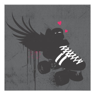 Roller Derby Square Note Card