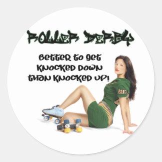 Roller Derby Round Stickers