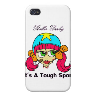 Roller derby tough sport iPhone 4 cover