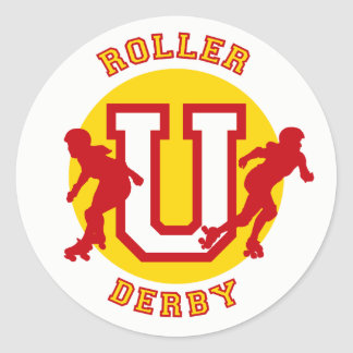Roller Derby U Classic Round Sticker