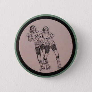 Roller Derby Vintage program Pinback Button