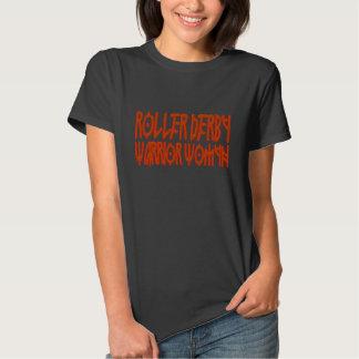 Roller Derby Warrior Woman Tee Shirt