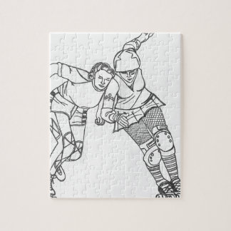 Roller Derby - Yesterday and Today Jigsaw Puzzles