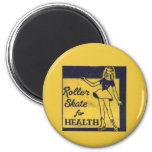 Roller Girl 2 Inch Round Magnet
