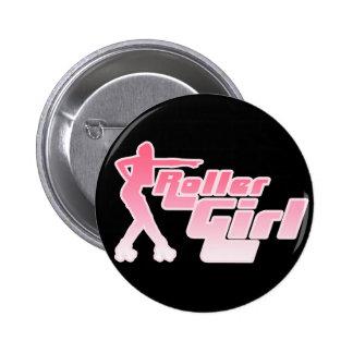 Roller Girl 80s Button