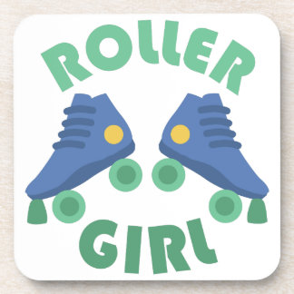 Roller Girl Beverage Coaster