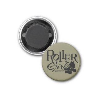 Roller Girl, Roller Derby 1 Inch Round Magnet