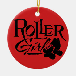 Roller Girl, Roller Derby Ceramic Ornament