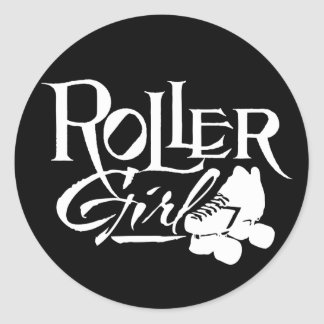Roller Girl, Roller Derby Classic Round Sticker