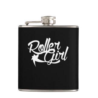 Roller Girl roller derby team Hip Flask