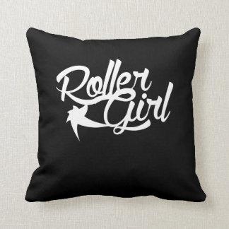 Roller Girl roller derby team Throw Pillow