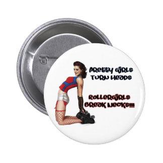 Roller Girls Break Necks Button