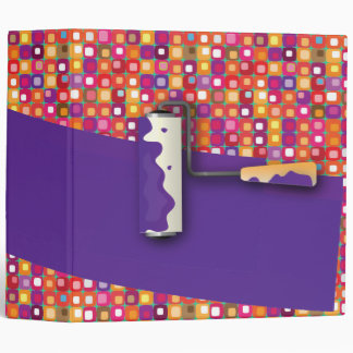 Roller Paint purple - 70's makeover 3 Ring Binder