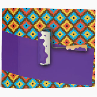 Roller Paint purple - 70's makeover Binder