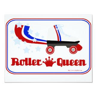 Roller Queen 4.25x5.5 Paper Invitation Card