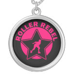 Roller Rebel Round Pendant Necklace